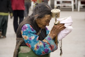 Lady at Lhasa Jokhang