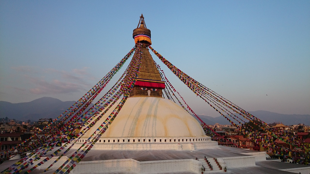 The Great Stupa of Boudhanath that liberates by seeing.