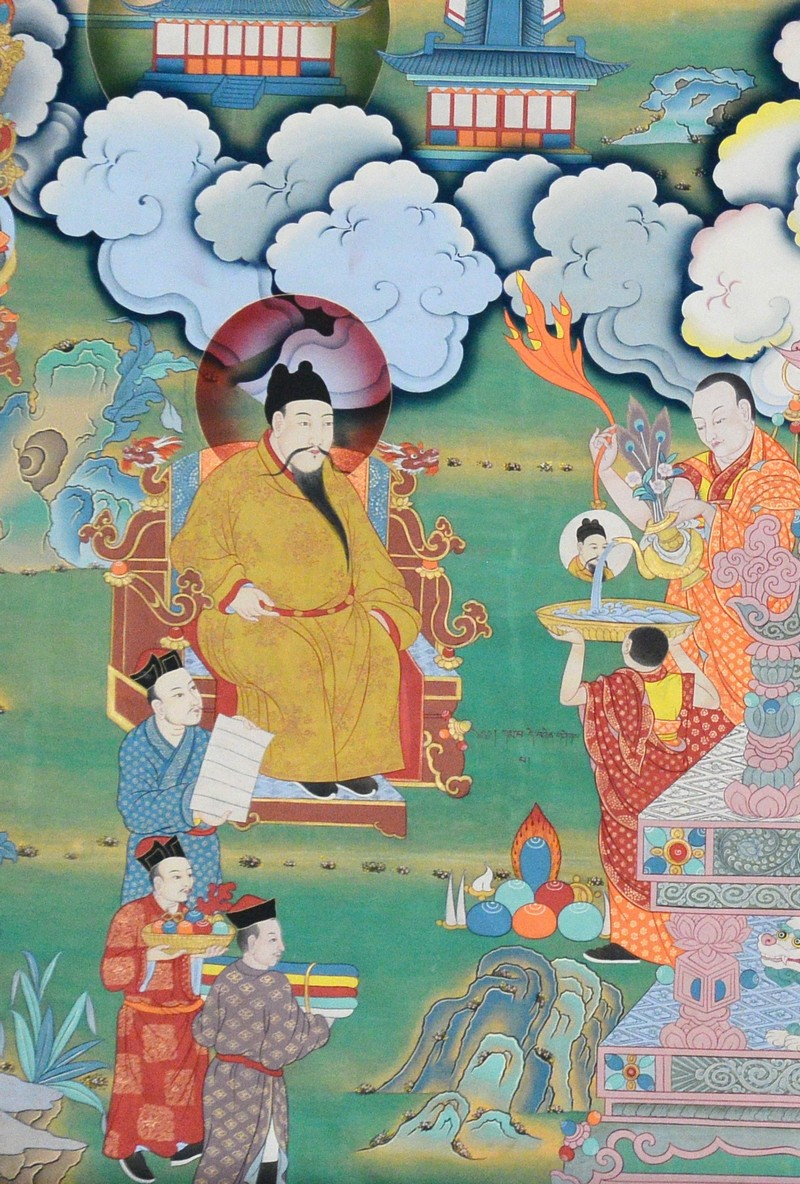 Detail of fresco of Karmapa 6th.